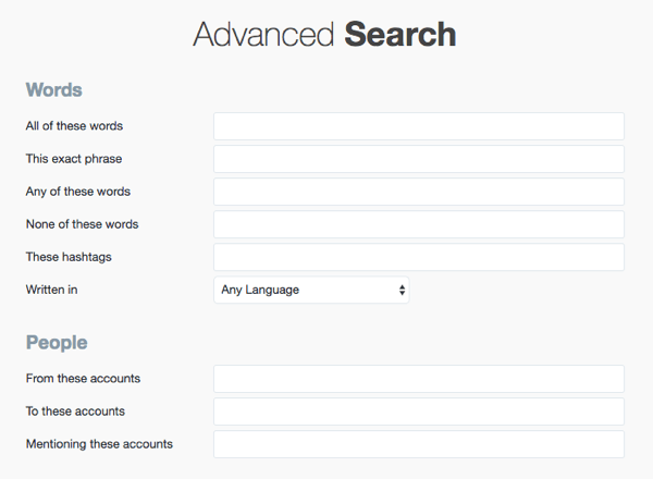 Enter your search terms in Twitter Advanced Search.