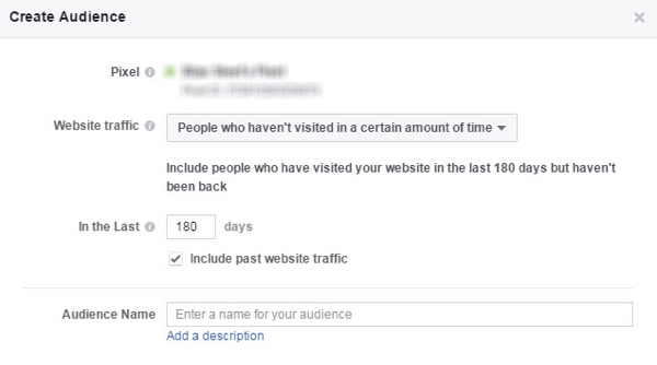 Use a Facebook custom audience to create a winback campaign for dormant customers/visitors.