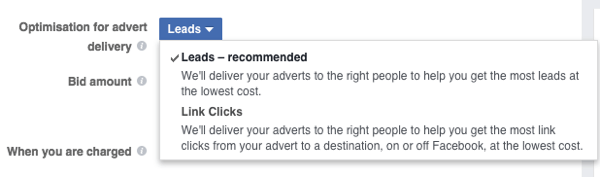 Optimize your Instagram ad for leads.
