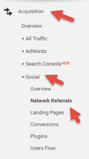 Analyze social referrals with Google Analytics.