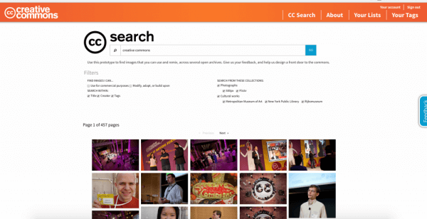 Creative Commons is beta testing a new CC Search feature.
