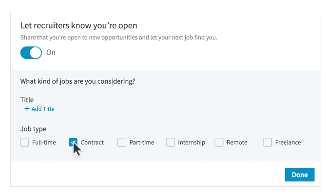 With LinkedIn's new Contractor Targeting feature, hiring managers can target job seekers who are more likely to be interested in contract roles based on their preferences or profile history.