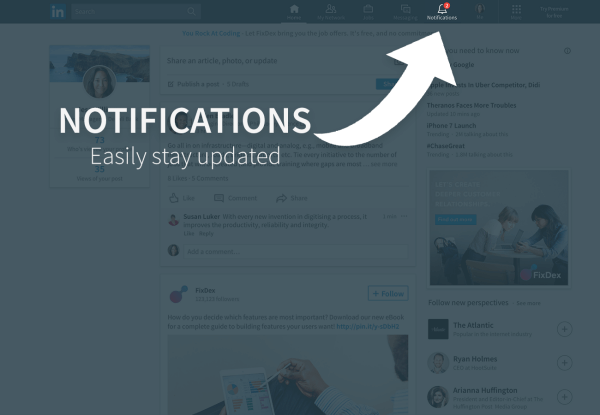LinkedIn published a quick overview on how to navigate the new Notification tab rolling out with the desktop redesign and announced that users settings for this feature are coming soon.