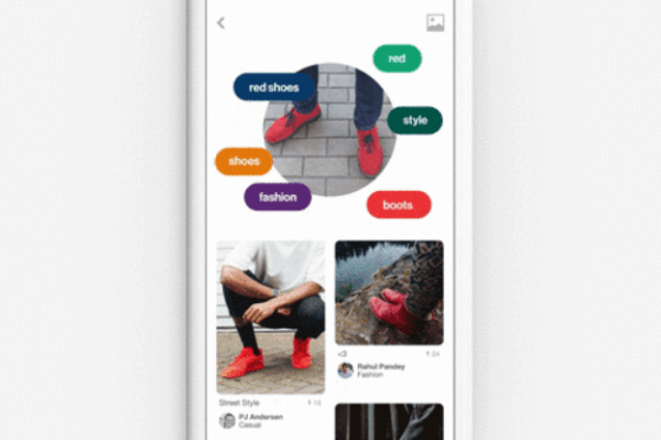 Pinterest's new visual discovery tool, Lens, uses your phone's camera to take a photo of an object and search Pinterest for related items that might interest you.