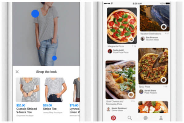Pinterest also rolled out two new buttons, Shop the Look and Instant Ideas, to make it easier than ever to find ideas across Pinterest and from the world around you.