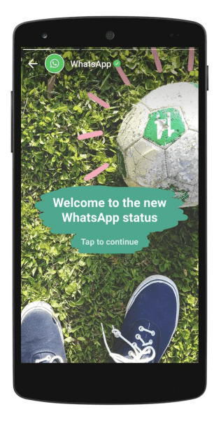 WhatsApp Status shares photos and videos in an easy and secure way.