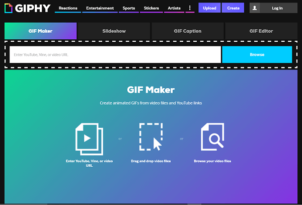 Search for or create your own GIFs with Giphy.