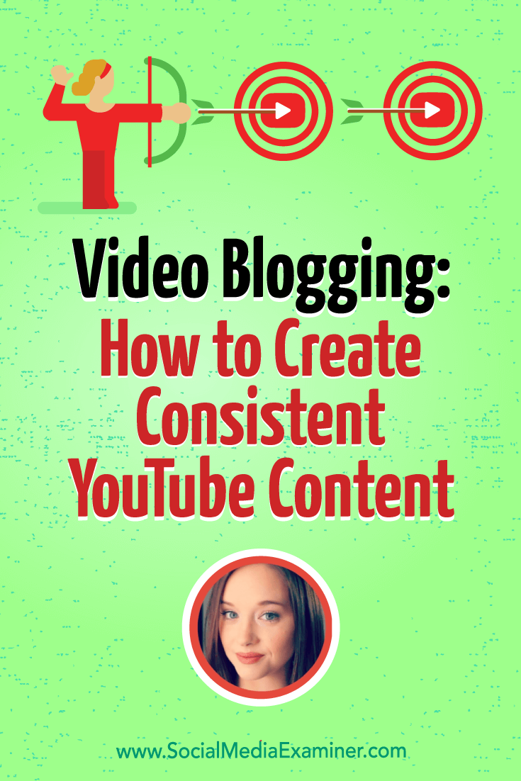 Video Blogging: How to Create Consistent YouTube Content featuring insights from Amy Schmittauer on the Social Media Marketing Podcast.