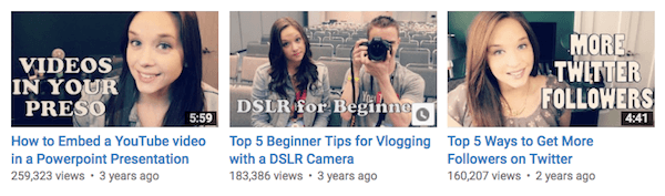 Create valuable content for your vlogs and then use them to showcase your expertise.