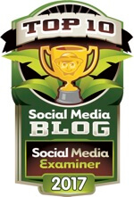 social media examiner top 10 social media blog 2017 badge