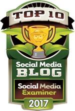 social media examiner top 10 social media blog 2017 badge