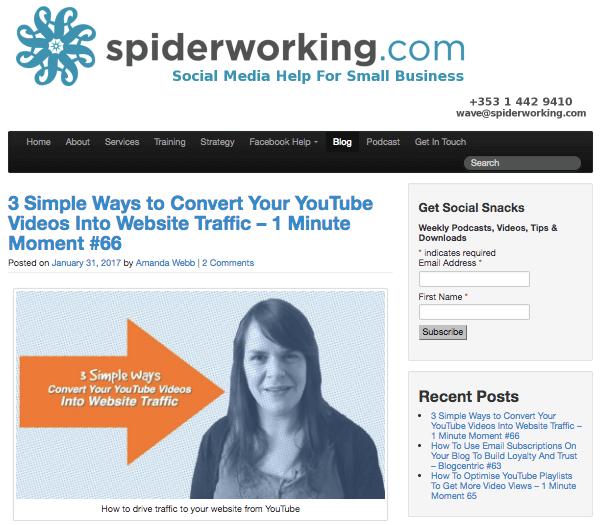 Social Media Examiner 2017 Top 10 Blog Contest winner, Spiderworking.