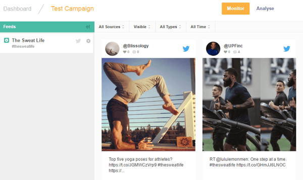 Waaffle displays content matching your campaign parameters.