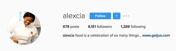 You can view your number of Instagram followers above your profile's bio.