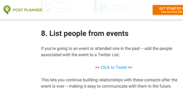 Twitter followers can share a quote and link back to your article simply by clicking the click to tweet option.