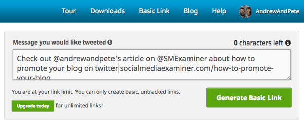 Click to Tweet helps you craft the message you'd like people to tweet as they read your article.