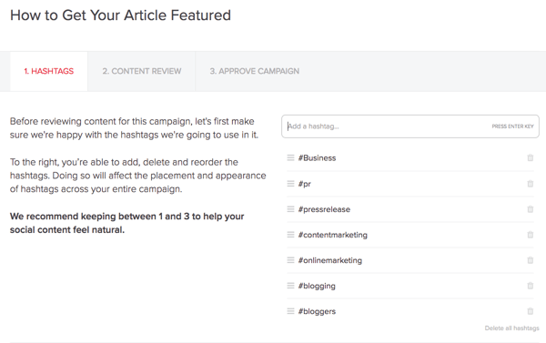MissingLettr automatically creates a Twitter campaign for every new blog post you publish.