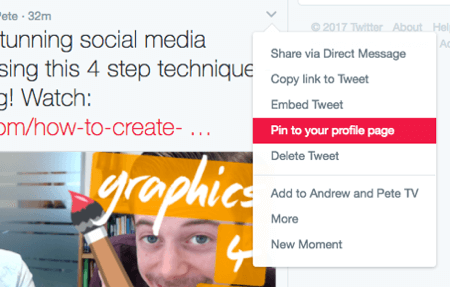 Pin your most recent blog post to the top of your Twitter timeline.