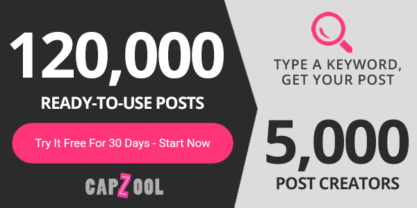 Capzool Ready-made Posts for Your Social Media