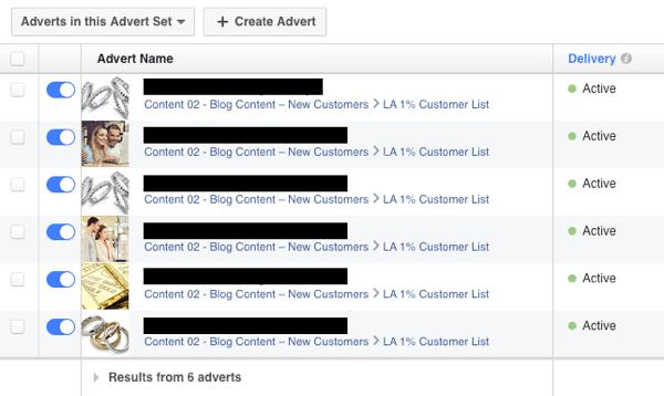 aCreate multiple Facebook ads and split test their performance.