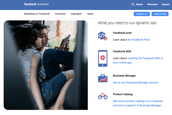 Dynamic Ads can be created via Facebook or a specialized plugin.