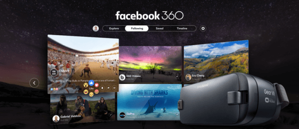 Facebook announced its first dedicated virtual reality app, Facebook 360 for Gear VR.