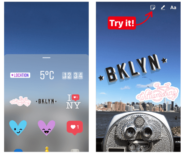 Instagram rolled out an early version of geostickers in Instagram Stories for New York City and Jakarta.