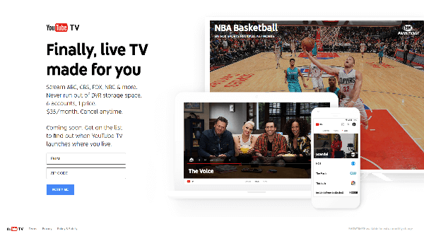 YouTube Introduced YouTubeTV.