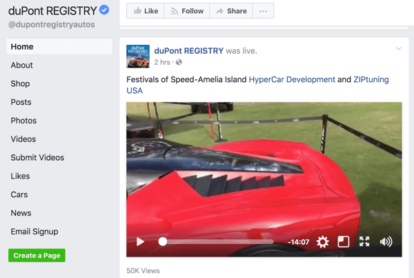 After your Facebook Live broadcast ends, it's added to your Facebook page or profile.