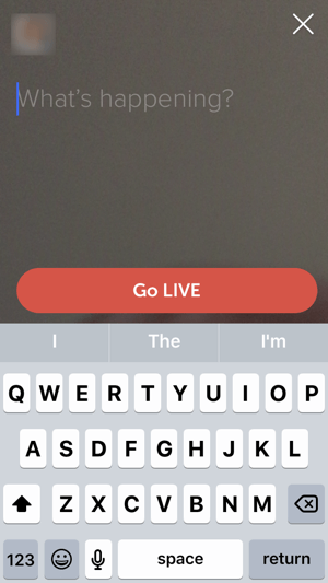 Enter a title for your Twitter live stream and then tap Go Live.