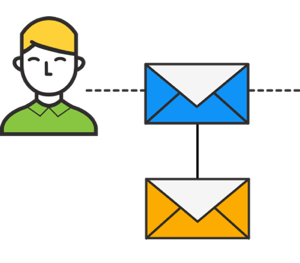 If the entrant clicks through on the initial email but doesn't convert, send a second follow-up email.