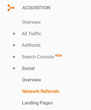 Navigate to Network Referrals in your Google Analytics to find referral traffic from LinkedIn.