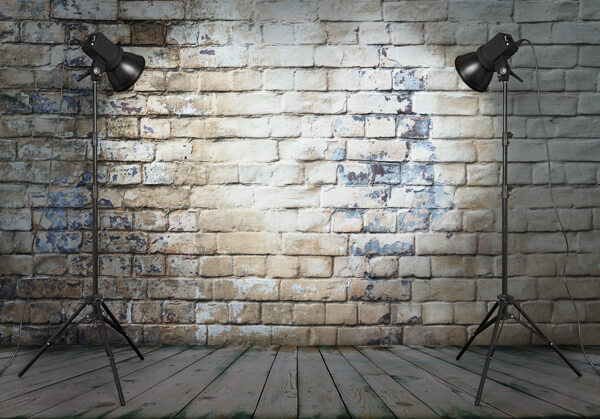A backdrop helps you eliminate clutter for more professional-looking videos.