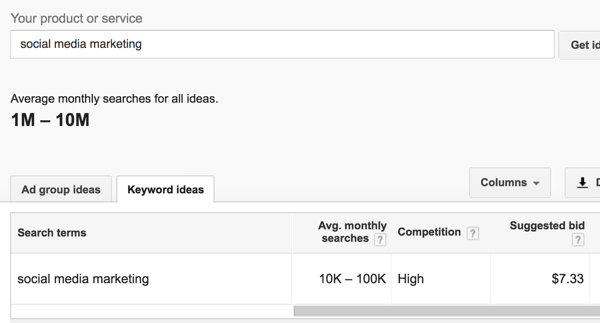 Google Keyword Planner tells you how popular a search term is.
