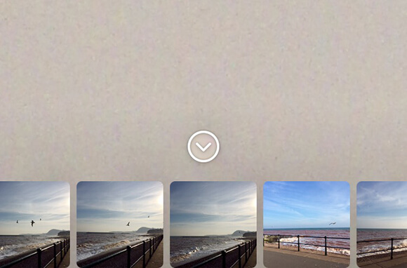 Choosing an image from Camera Roll for your Story.