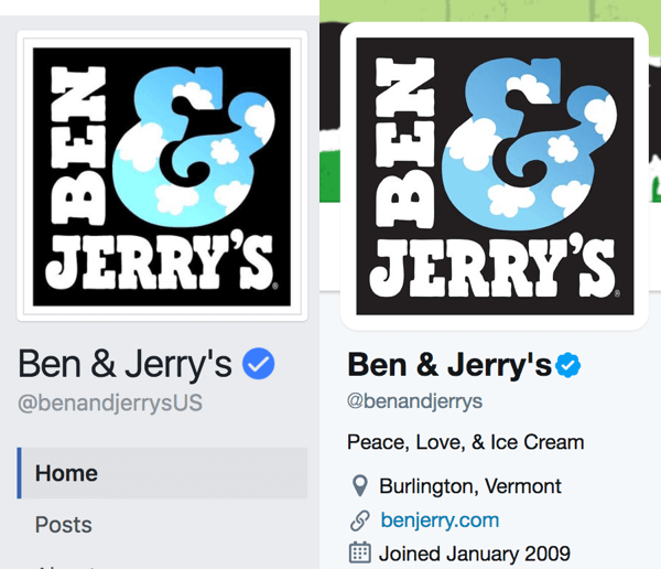 Is your branding consistent among your social media channels? Using the same logo on multiple platforms lends authenticity to your accounts.