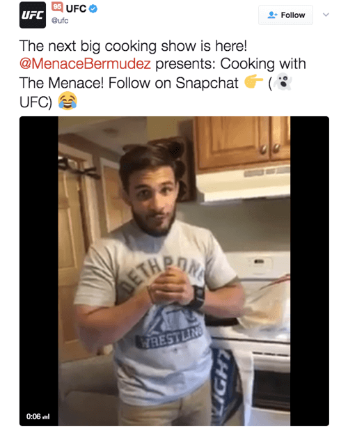 UFC's video-led cooking series is popular with viewers.