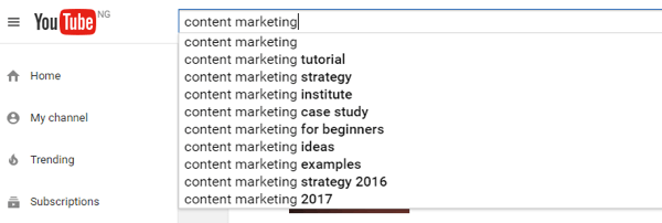 Use YouTube's suggestions feature to craft videos based on what your audience is interested in and searching for.