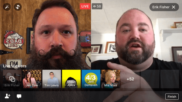 Social Media Examiner tested the native split-screen, two-person broadcasts in Facebook Live.