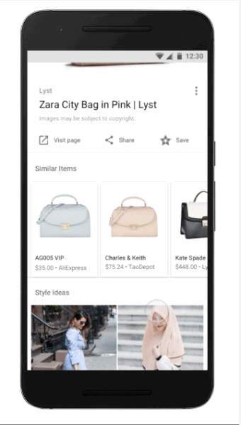 Google introduced two new features, Style Ideas and Similar Items, to the Google app for Android and mobile web for fashion image searches.