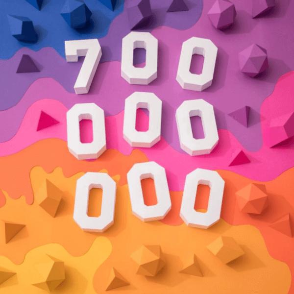Instagram reaches 700 million users worldwide.