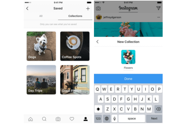 Instagram rolled out private collections for saved posts.
