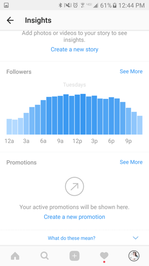 Use Instagram analytics to get information about your followers.