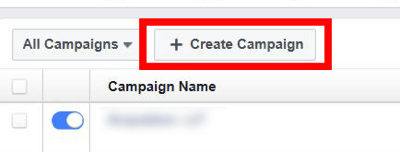 To set up your split test, start by creating a new Facebook campaign.
