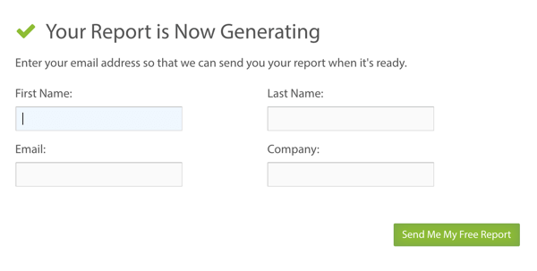 Fill in some additional details and then click the button to generate your Simply Measured report.