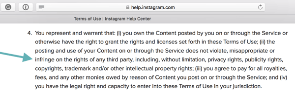 Instagram's Terms of Use state that users must comply with the Community Guidelines.