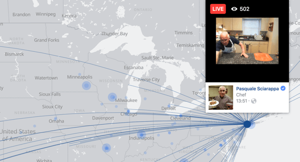 The Facebook Live map makes it easy for users to find live video broadcasts across the globe.