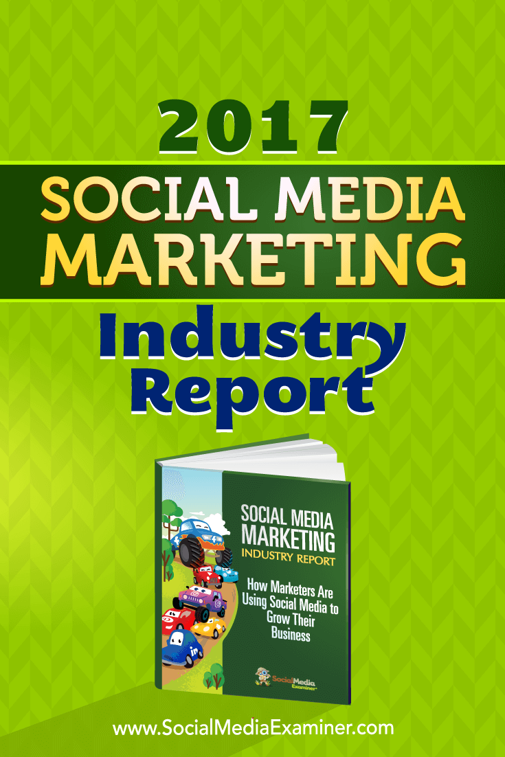 2017 Social Media Marketing Industry Report by Mike Stelzner on Social Media Examiner.