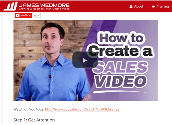Embed videos from your YouTube channel in relevant blog posts.
