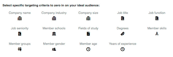 You can add further targeting options to your LinkedIn campaign.